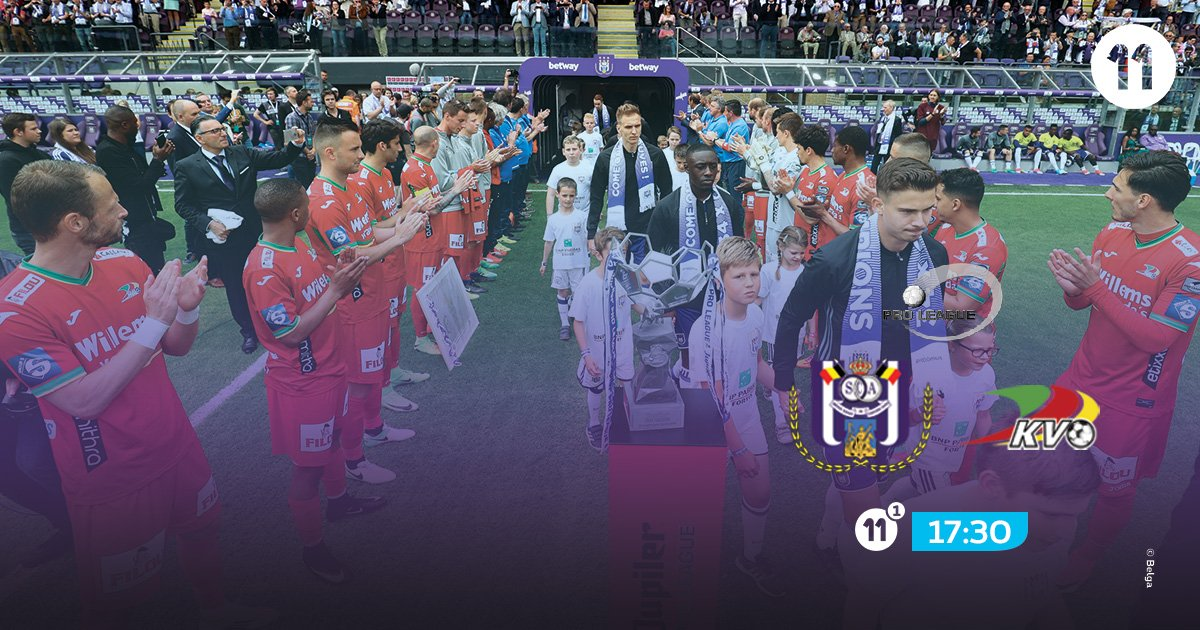 Champions @rsc_anderlecht won&#39;t have a &quot;honourful&quot; welcome by @kvoostende this time. #pxs11 #AndKvo<br>http://pic.twitter.com/KMhHcAWHiN