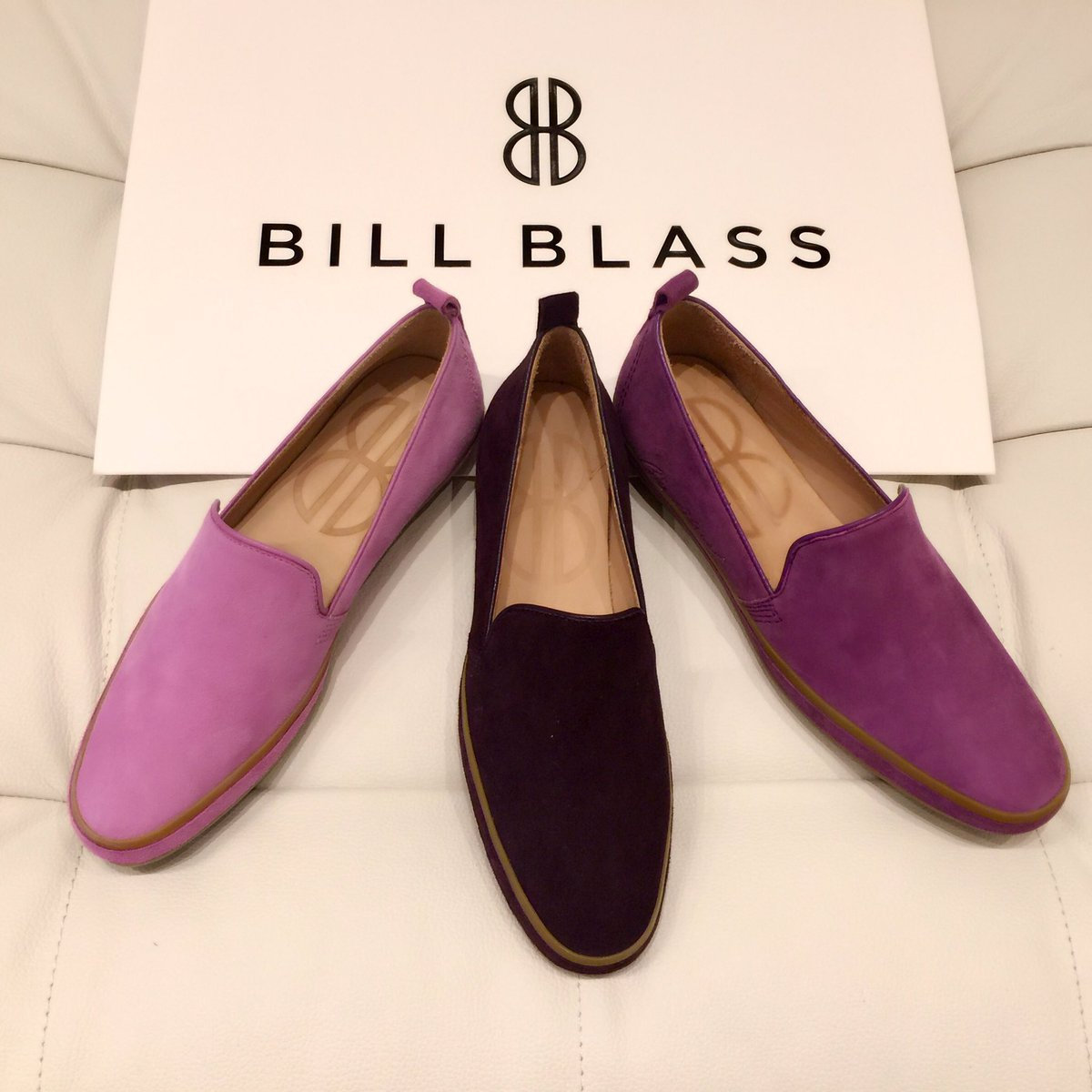 Shades of #purple😍 Check out our colorful slip on collection to change your #friday mood! #billblass #suttonslipon https://t.co/DG2obSTfBI