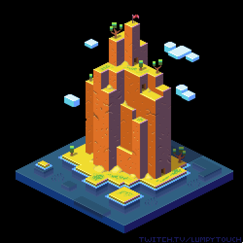 Did a bit more geometric take on an #isometric_island for #pixel_dailies!  @Pixel_Dailies #pixelart #gameart #gamedev #aseprite<br>http://pic.twitter.com/wPPxIWRn90