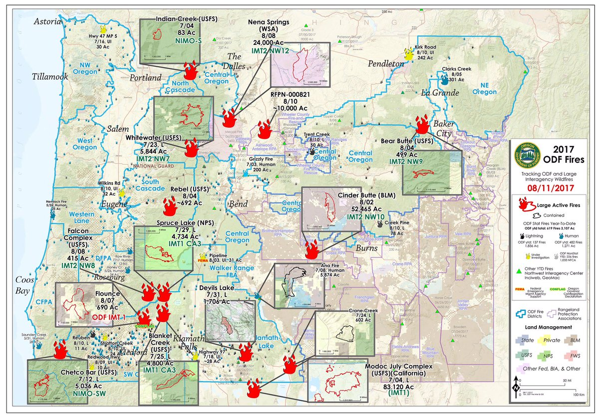 Oregon Forestry On Twitter Updated Odf Map Current Large