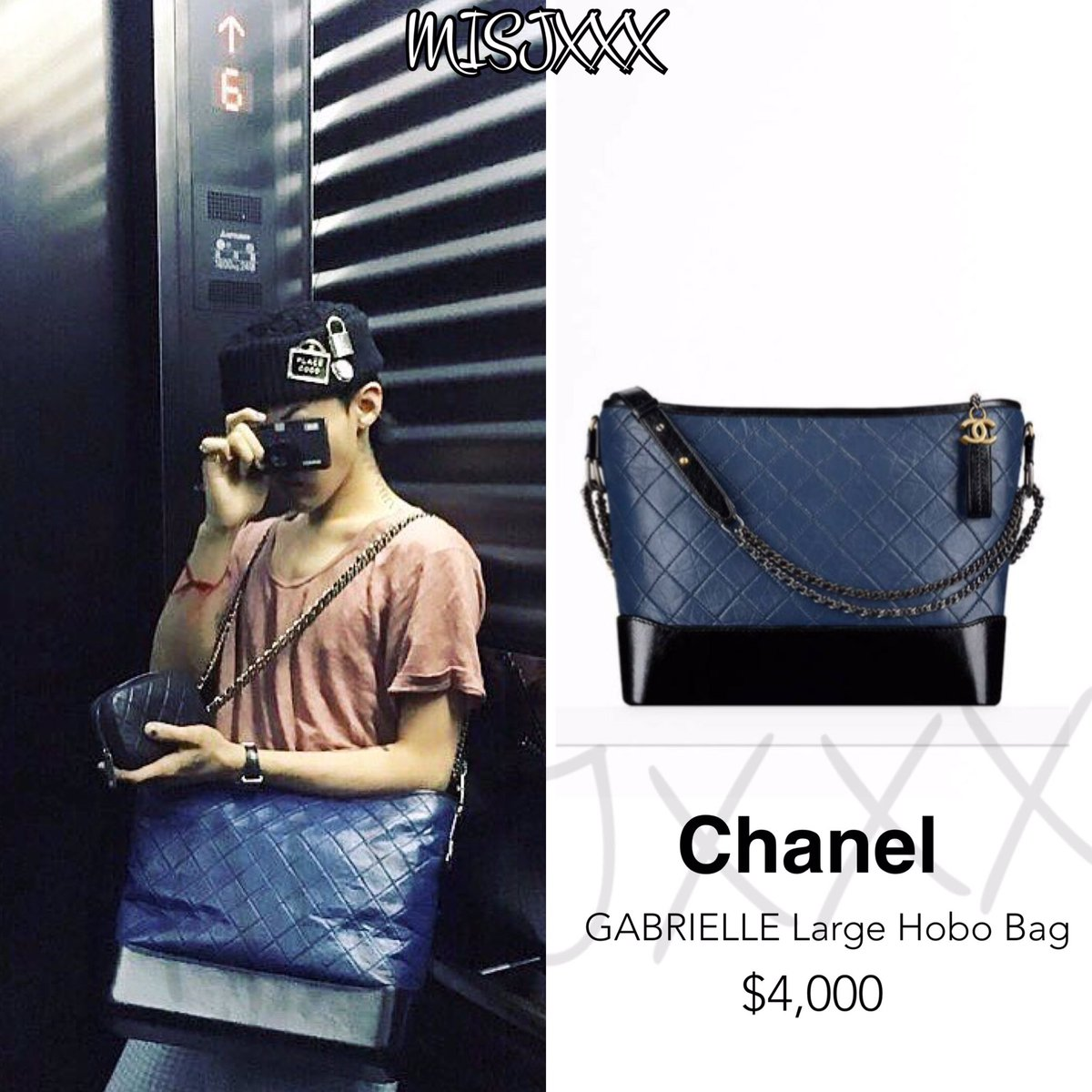 3113338f5fcf #CHANEL GABRIELLE Large Hobo Bag.($4,000) #gdragon  #gdpic.twitter.com/7zsbrX47qs