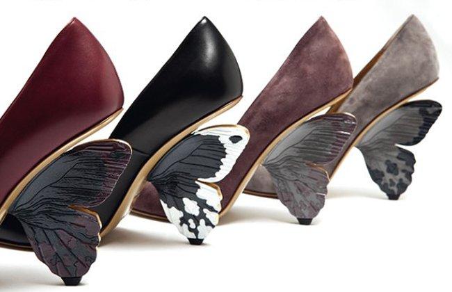 おしゃれの最前線?!wwヒールの部分が蝶になっていておしゃれな靴ww
