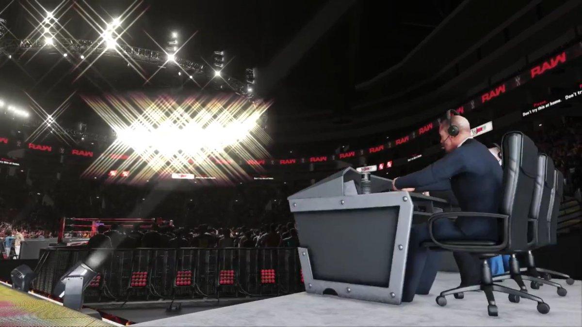 Commentators, Arena, Universal Championship, Brock Lesnar  #WWE #WWEGa...