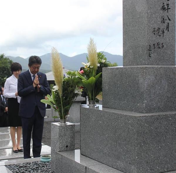 安倍首相「謙虚に誠実に丁寧に全力を尽くす」 父、晋太郎元外相墓前で誓う  sankei.com/po…