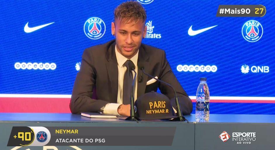 Neymar sobre escolha pelo PSG: 'Foi onde meu coração pediu pra ir'. #Mais90