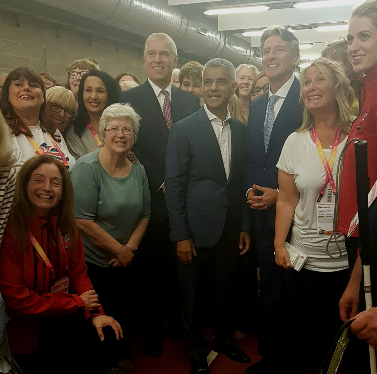 The Duke of York also met the @GamesMakerChoir at the @IAAFWorldChamps...