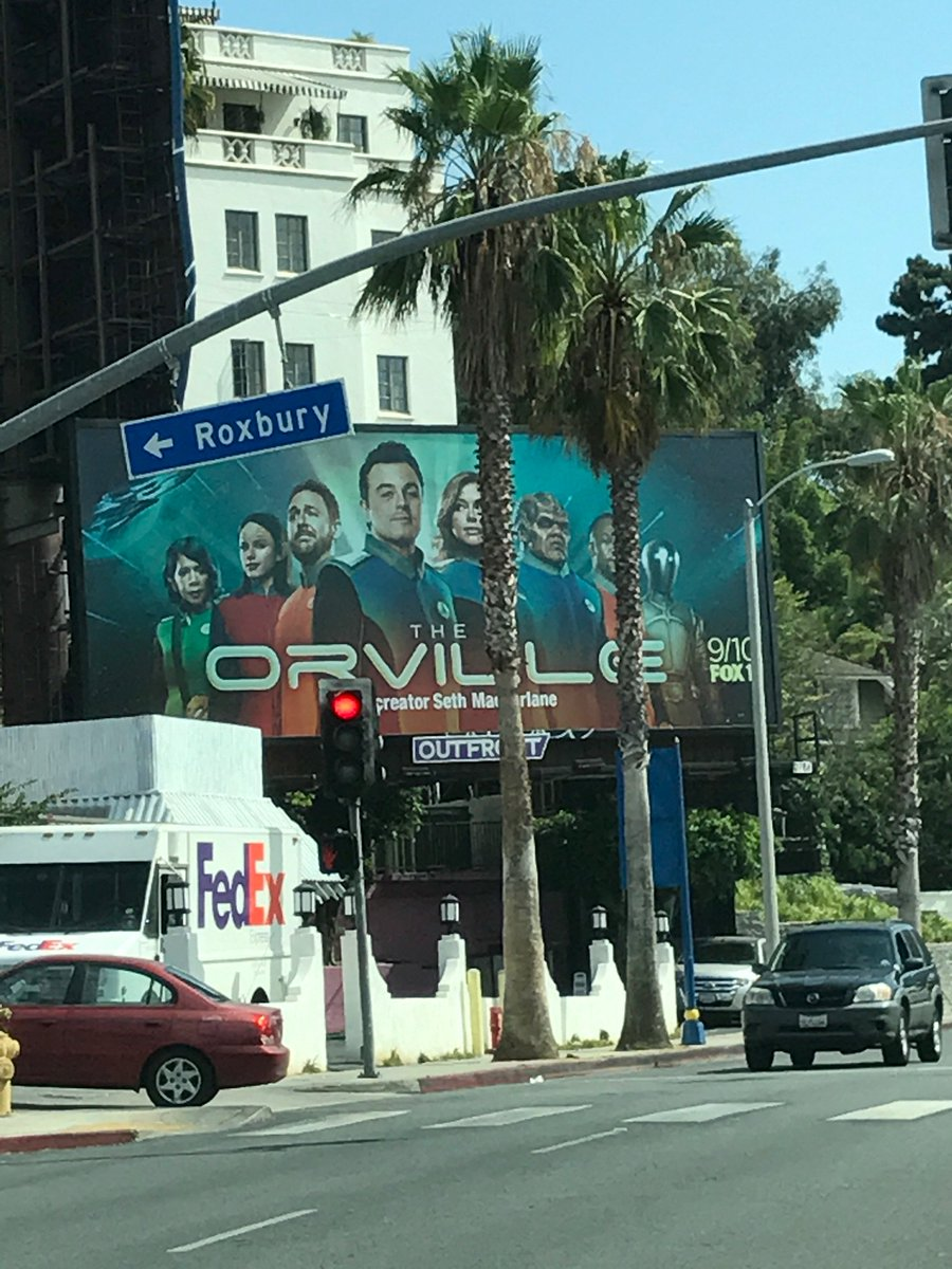 I'm not gonna lie, this is pretty cool!! Sunset Boulevard baby!! @TheOrville #theorville https://t.co/Nk7ACsksnc