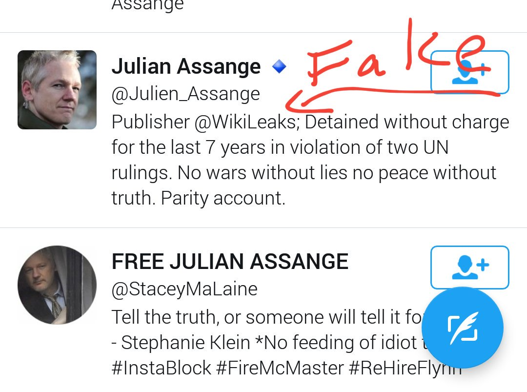 /\ @TwitterSupport @Twitter still hasn&#39;t shut down this #copycat account  for violation of rules.  Real #Julian = @JulianAssange<br>http://pic.twitter.com/3qZS378Fy9