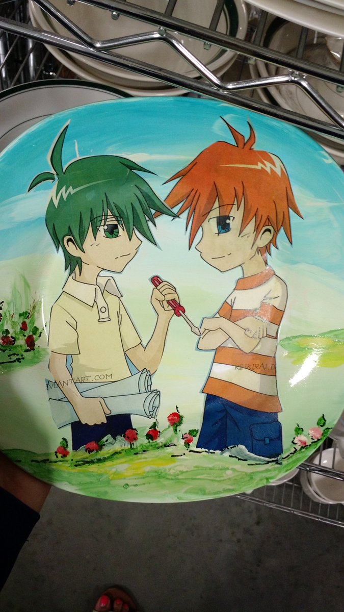 The real eve santaclaus on twitter why is this custom plate with stolen deviant art anime phineas and ferb in my local goodwill