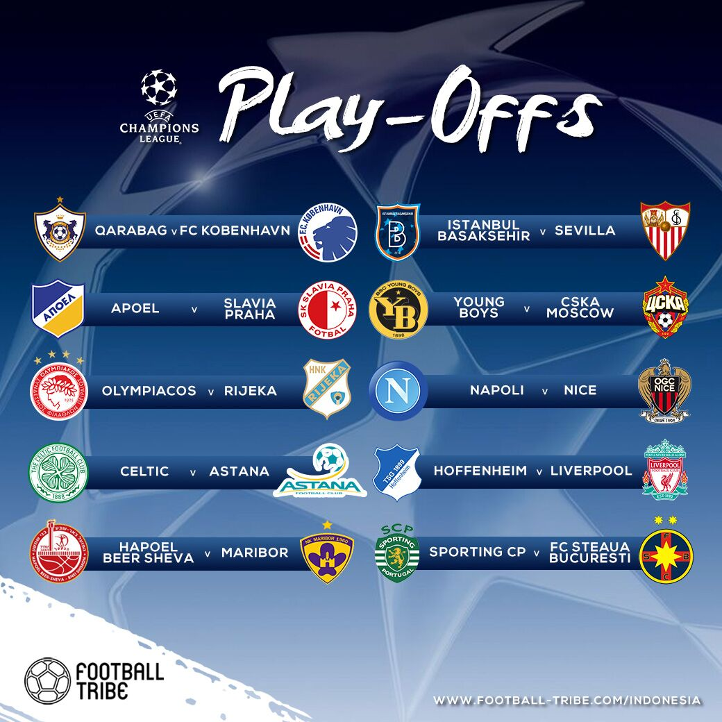 Hasil drawing Play Off UEFA Champions League.  Liverpool mana Liverpool?  #UCLdraw <br>http://pic.twitter.com/Gdso06lGVC