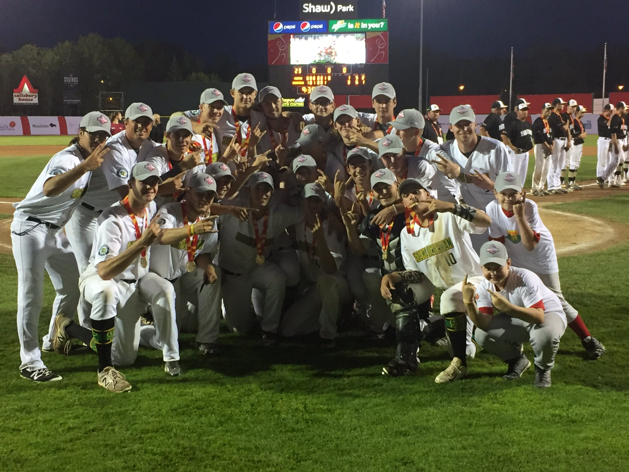 Congrats to @BaseballSask! #CGBaseball⚾️ gold medal winners! 🥇#JCG2017 https://t.co/NHcqOS1Dxd