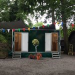All set up and ready to party, let's hope the weather holds!