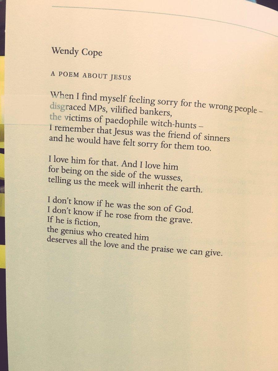 names poem by wendy cope