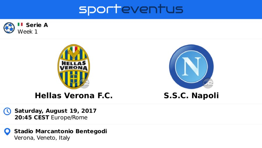 Don&#39;t miss #HellasVeronaFC  #sscnapoli  August 19th 20:45 CEST  #SerieA_TIM   Buy #tickets in-app   http:// sportevent.us/twev216482  &nbsp;  <br>http://pic.twitter.com/yOCA7etfZX