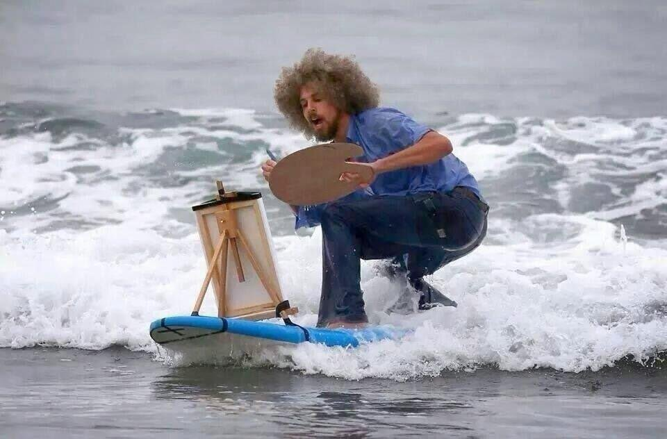 Good news! You CAN paint and surf! So happy! https://t.co/RAuJBCm4hR