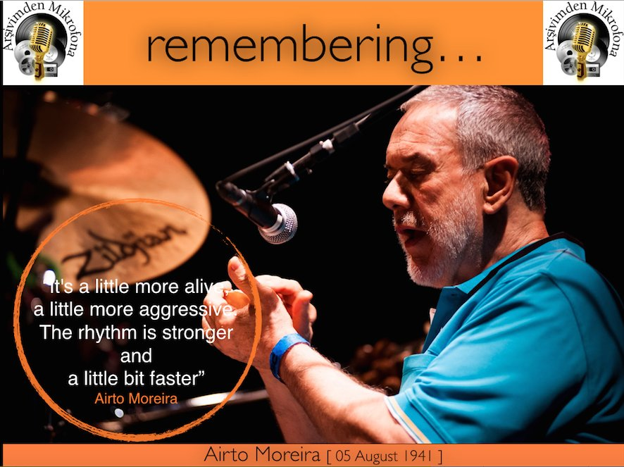 Happy birthday to Airto Moreira Born on this day in 1941.