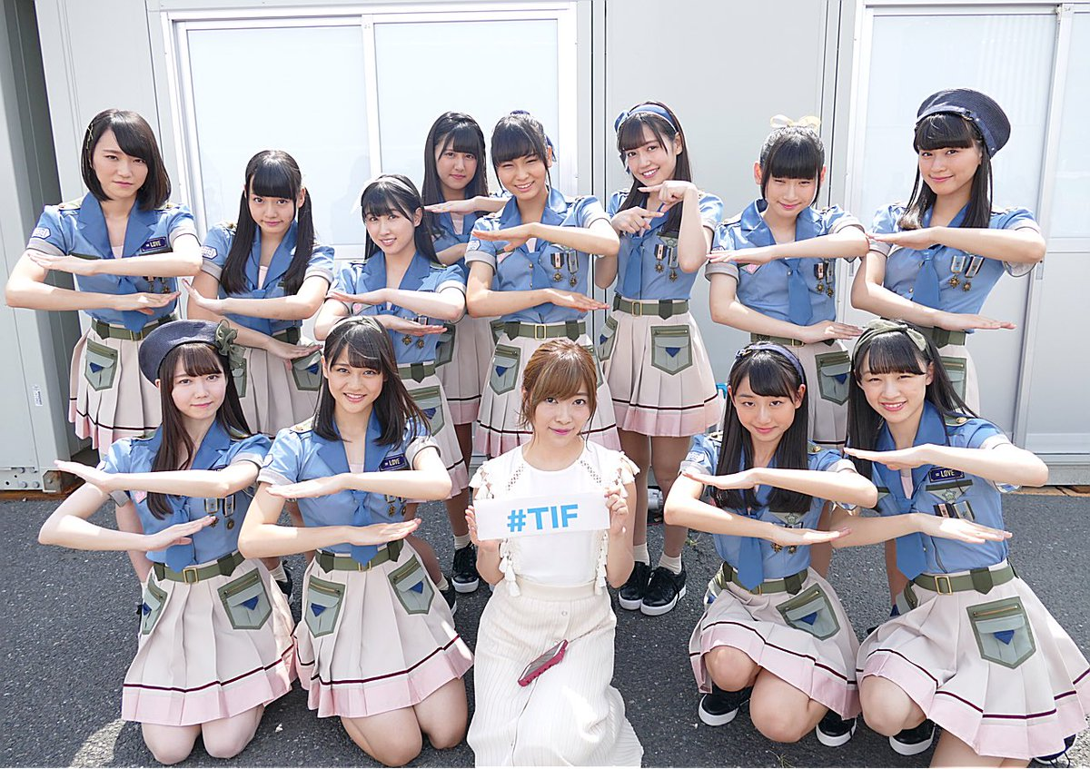 "STU48: TIP&TIF 公式 On Twitter: ""HOT STAGEでは、この指と〜まれ!TIF歌謡祭2017が始まっ"