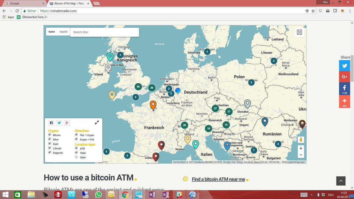 Alex Von Frankenberg Twitter Unfassbar Kein Bitcoin Automat In Deutschland Thx Coinatmradar Tco MrgZpWeyFh
