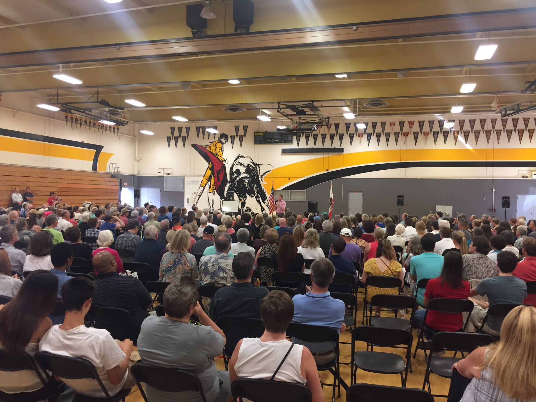 Great turnout at Granada High School in Livermore for the first of our two #CA15 town hall meetings today! https://t.co/fftocpKKiS