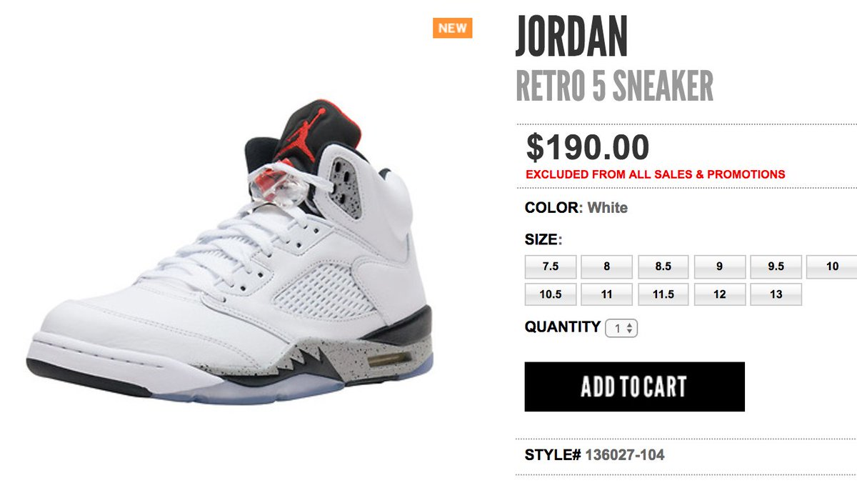 ... discount code for sole links on twitter live via jimmy jazz air jordan  5 retro white ... cb1298308