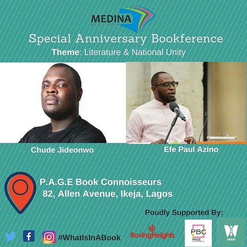 test Twitter Media - RT @farafinabooks: Join Medina Book Club on the 12th of August, 2017.  With Chude Jideonwo and Efe Paul Azino. https://t.co/2ekiAqXPov
