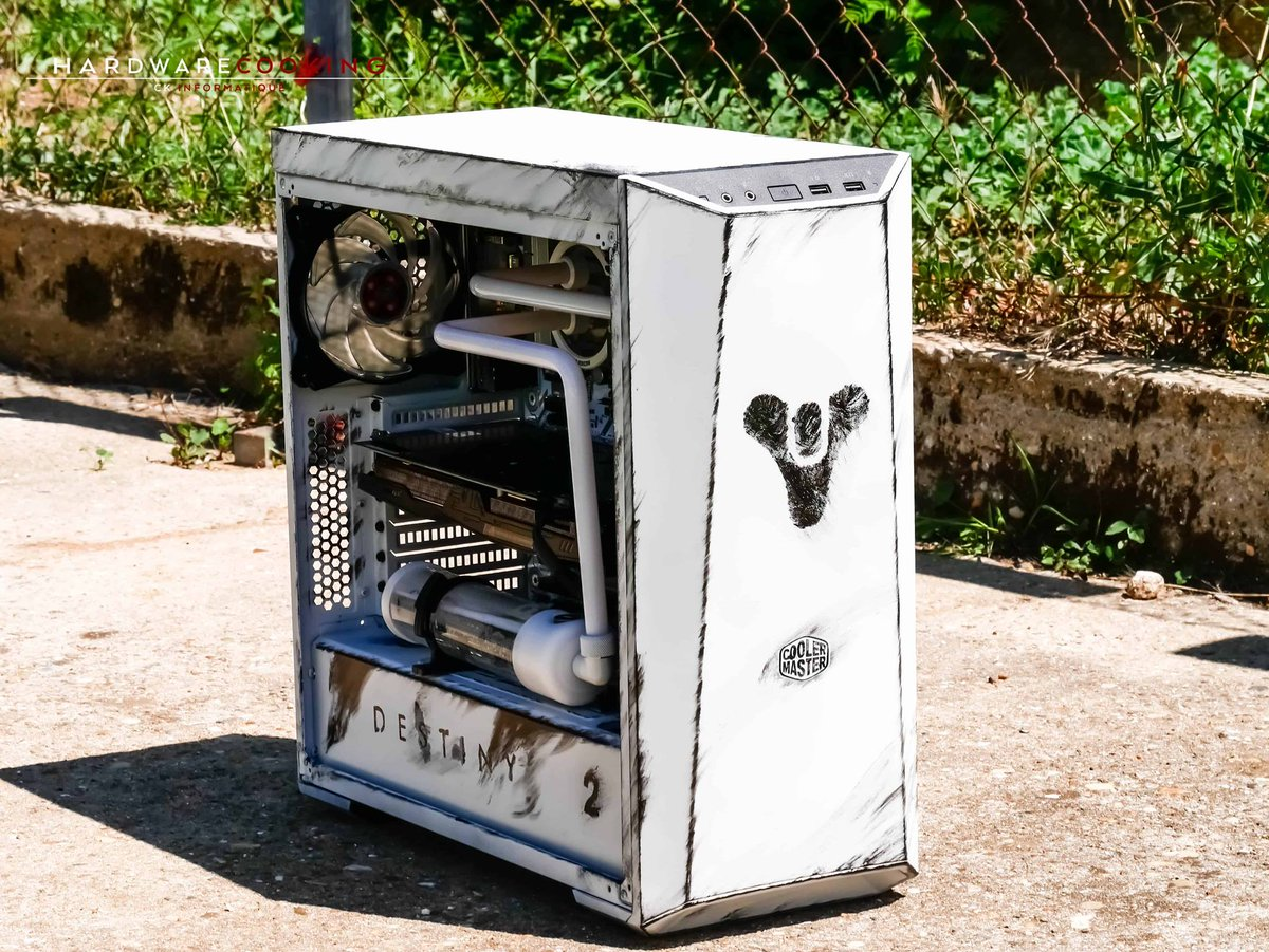 """Cooler Master on Twitter: """"This MasterBox Lite 5 mod by @xboxnow67  celebrates the PC release of Destiny 2. What are your hopes for this game?  ..."""