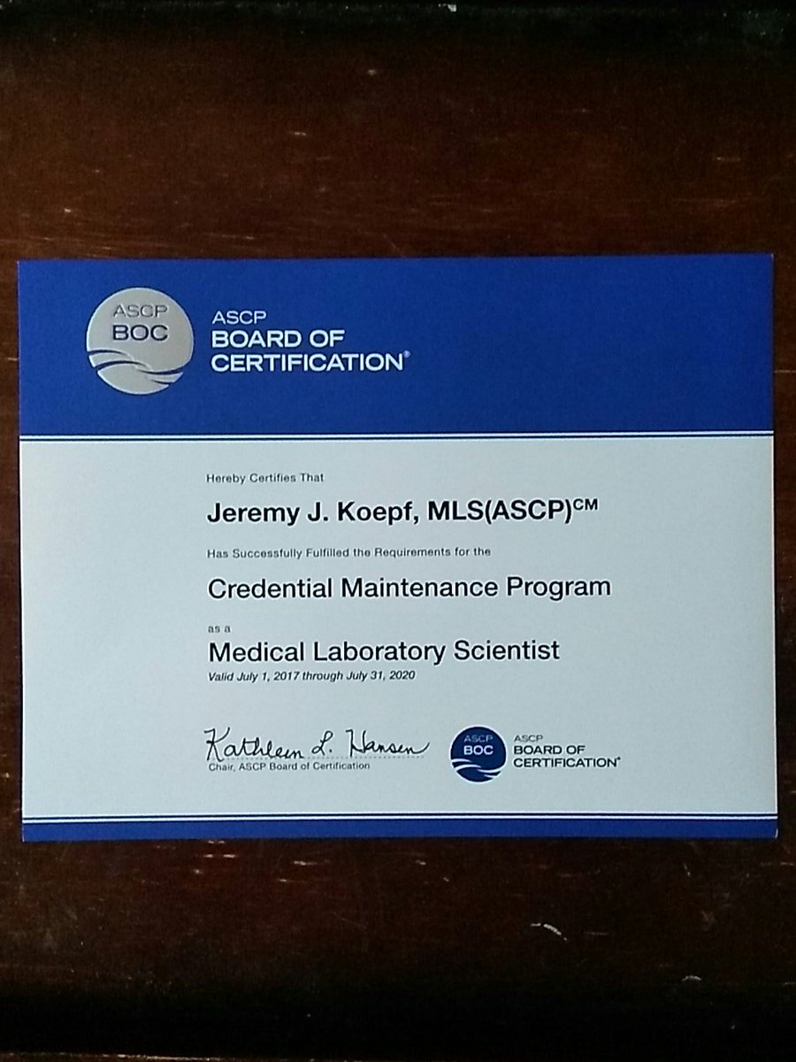 Jeremy Koepf On Twitter Its Official Im Certified For Another