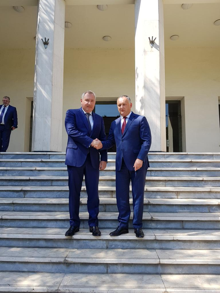 Talks with Moldovian President Igor Dodon have been held at the Russian Embassy in Iran