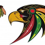 Image for the Tweet beginning: Culturally Appropriate Chicago Blackhawks Logo