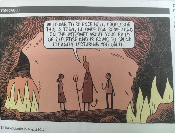 On the internet everything goes to hell, doggonnit. RT @LenFisherScienc: LOVE this New Scientist cartoon  https://t.co/nOLkA2KLkE