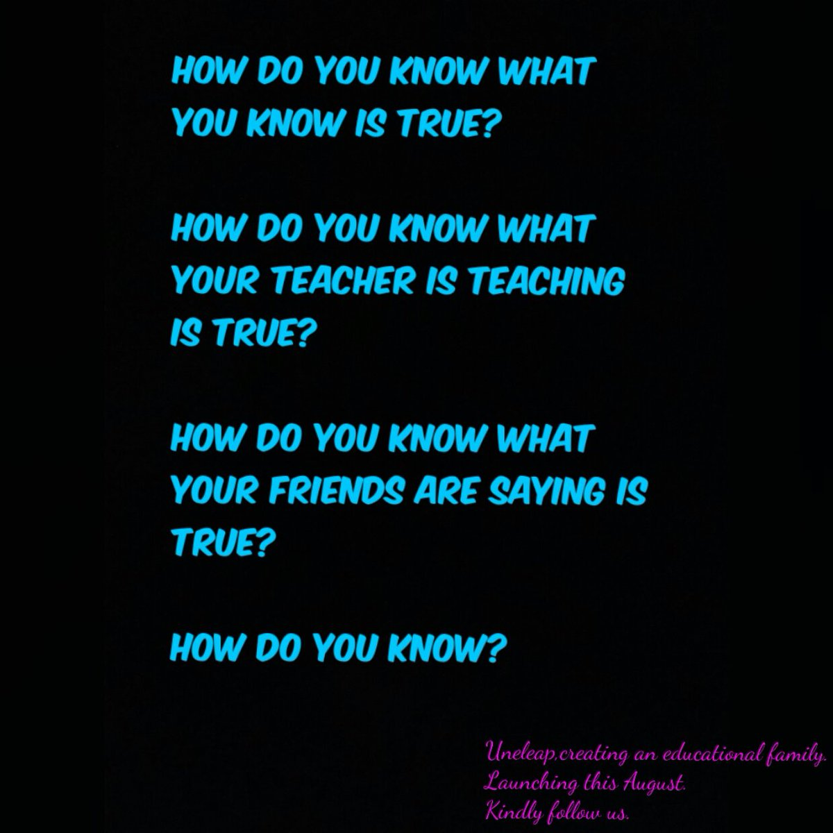 How do you know?   #uneleap #weekend #SaturdayMotivation #download #launching #followme #NBAAfricaGame #Howdo #family #student #Education.<br>http://pic.twitter.com/CG3Q5WN8bH
