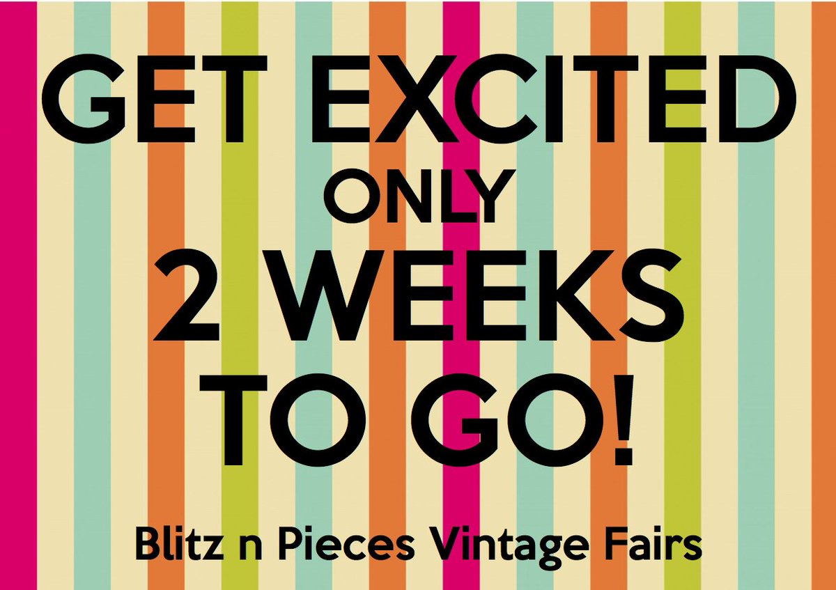 Only 2 weeks to go until our next VINTAGE FAIR!! Are you ready?! WE ARE!! #Vintage #VintageFair #Wigston #Leicester #1940s #1950s #1960s<br>http://pic.twitter.com/O4HwjClNvf