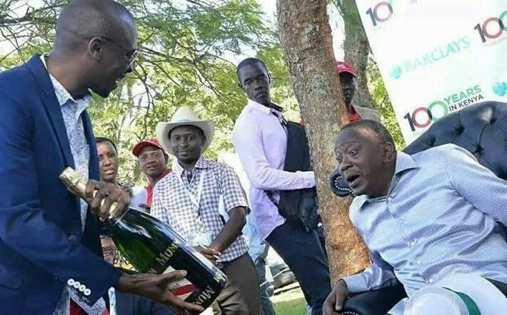 The drunkard to be relieved of his duties on Tuesday so that he can have ample time to hit the bottle harder.  #UhuruToka <br>http://pic.twitter.com/r4rpa39ZKi