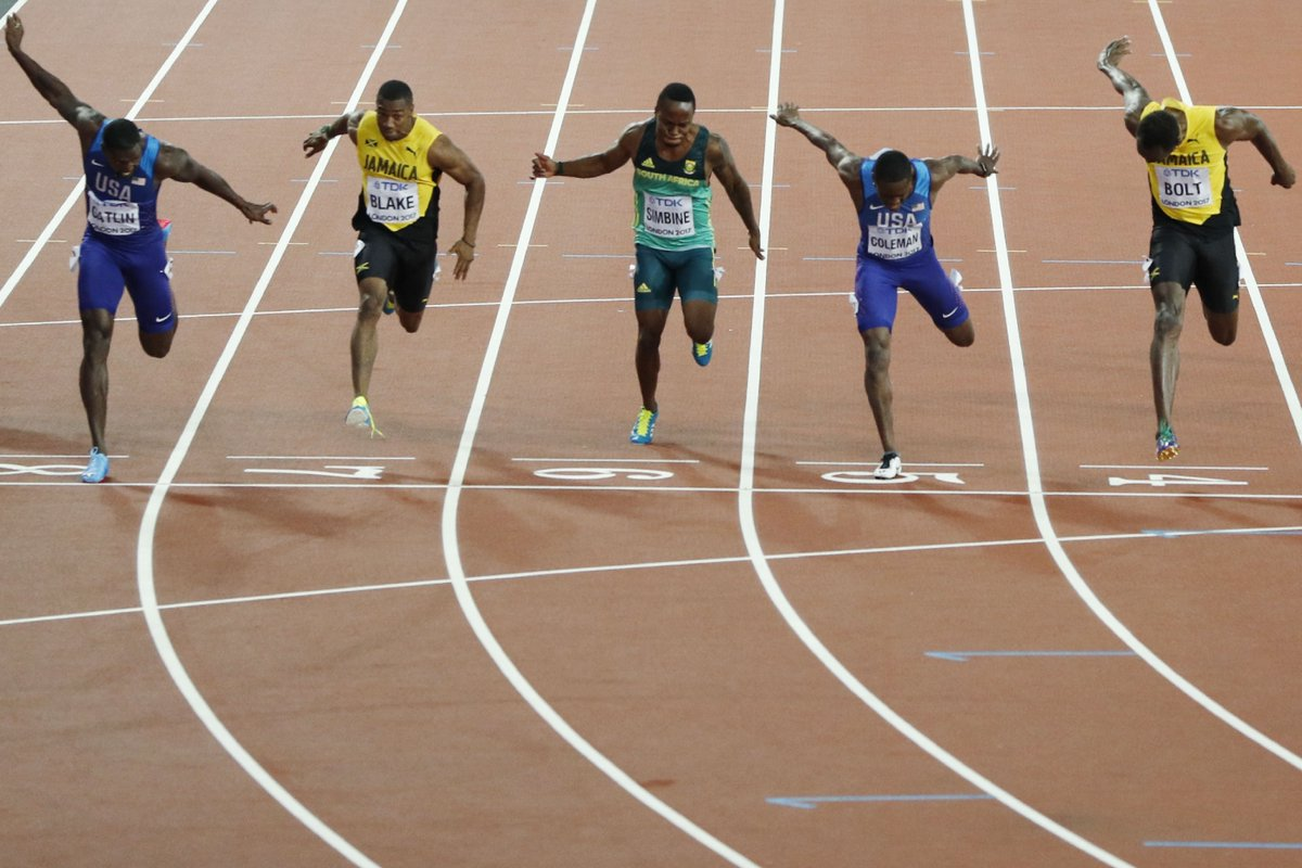Jamaican Athletic sensation, Usain Bolt has fallen for Justin Gatlin in the finals of the IAAF World Championships 2017 going on in London for Bronze