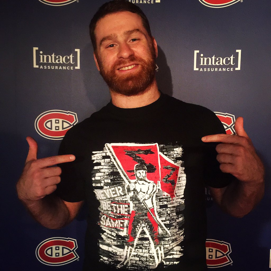 Make sure to rep @samizayn and pick up his BRAND NEW shirt! #NeverBeTheSame #WWEMontreal
