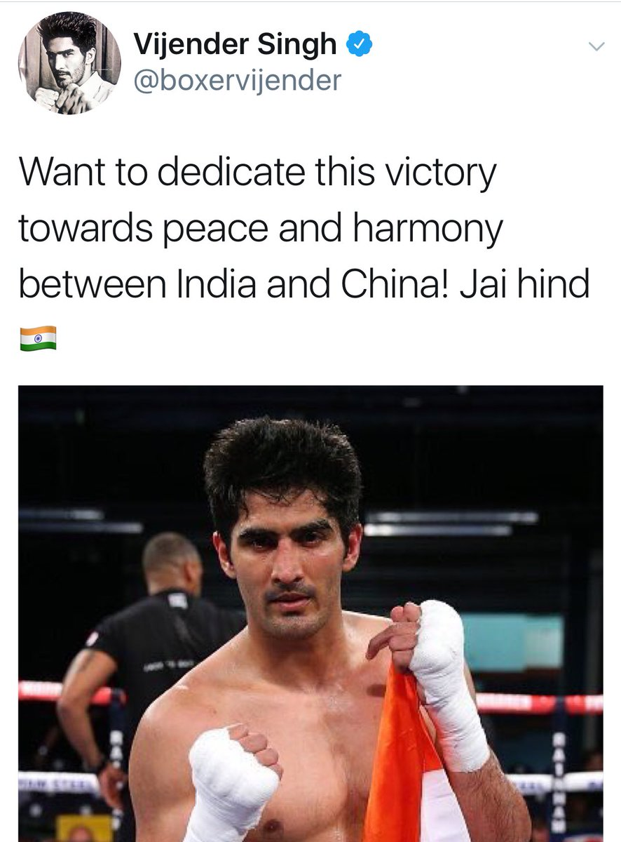 """What a world: The boxer calls for peace and the """"yogi"""" lusts for war https://t.co/EWrC7xE0ug"""