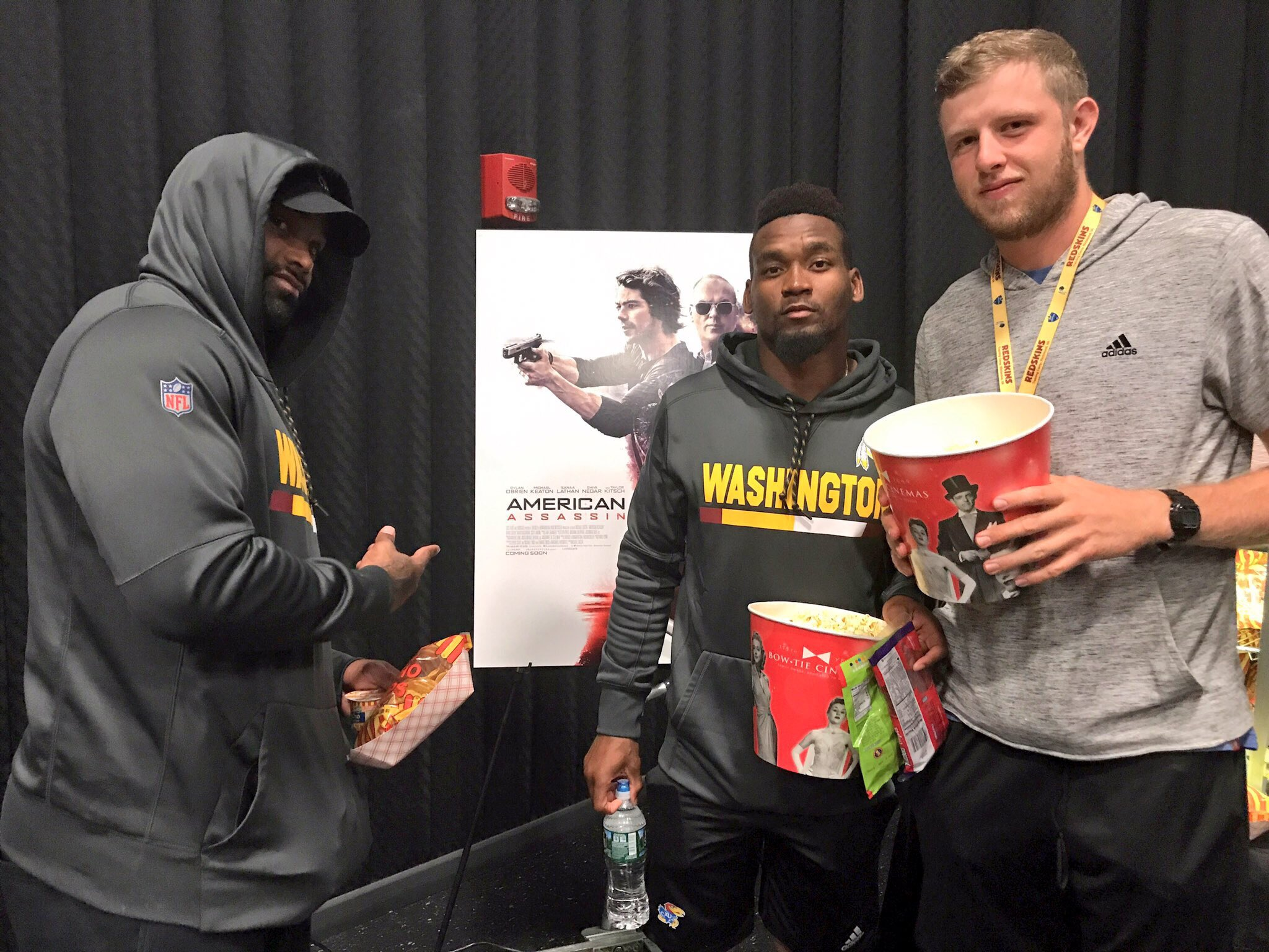 #Redskins players caught an early screening of #AmericanAssassin tonight! #TeamBonding https://t.co/9FPVqy53qD