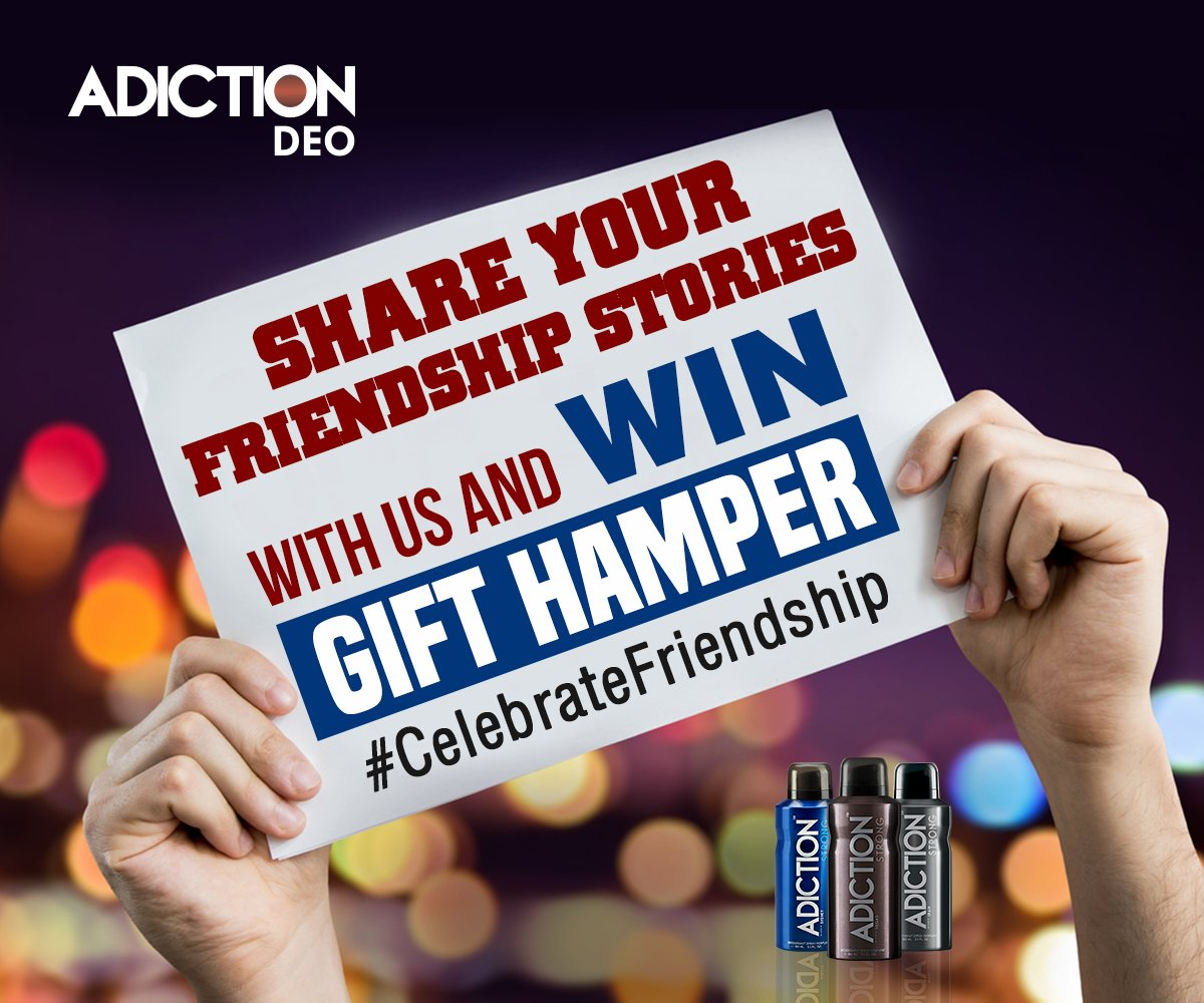 Share something interesting and win amazing prize. #Adiction #Contest  #CelebrateFriendship #FriendshipDay https://t.co/VuV5O8nbEt