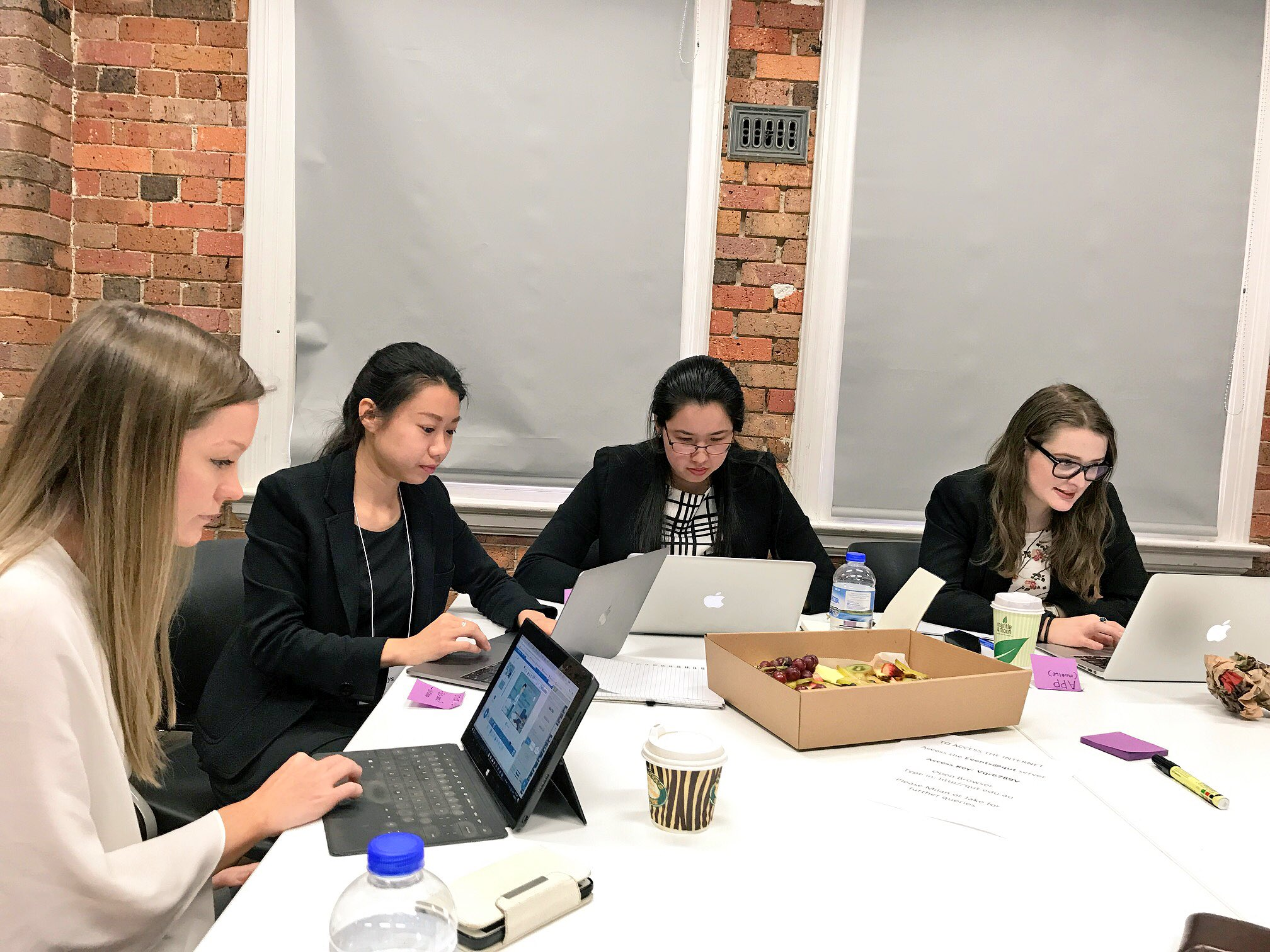 "Crunch time! Doug, our lawyer on the ground says: ""the mood is tense but the hacking is real."" #auslaw #hackathon #DisruptingLaw #legaltech https://t.co/pT05sBclSu"