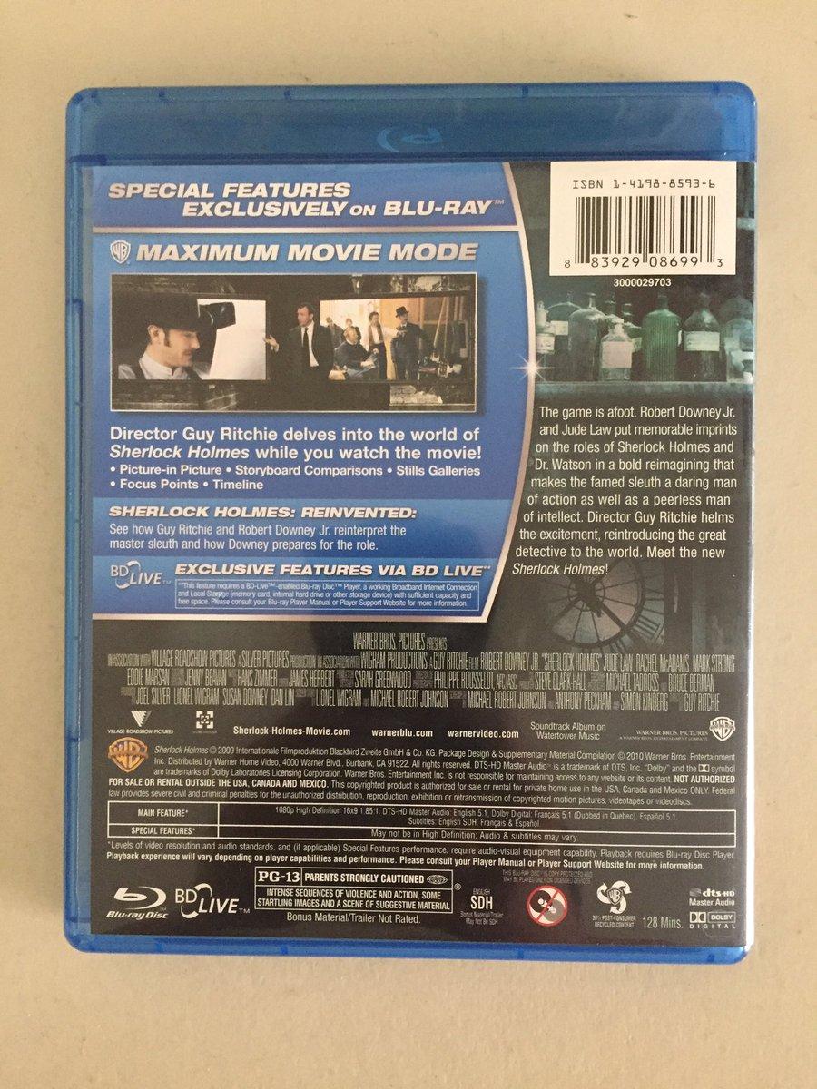 Alphapower65 On Twitter Sherlock Holmes 2009 Blu Ray Digital Copy Codes Wb Insider Rewards Sherlockholmes Guyritchie Rdj Bookoff