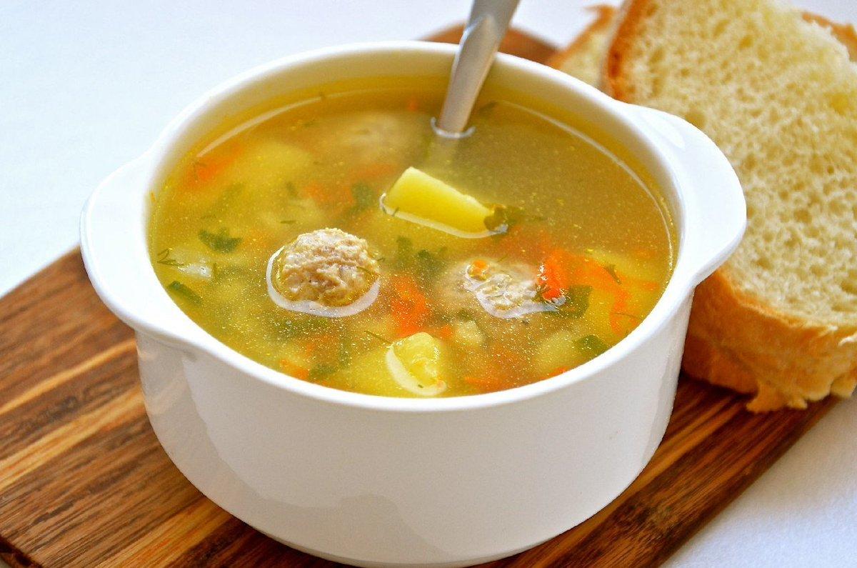 Суп с фрикадельками с фото рецепт
