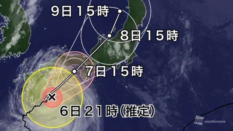 【台風5号】少しずつ速くなってきていますが、それでもまだスローペース。ようやく鹿児島県は暴風域を抜け…