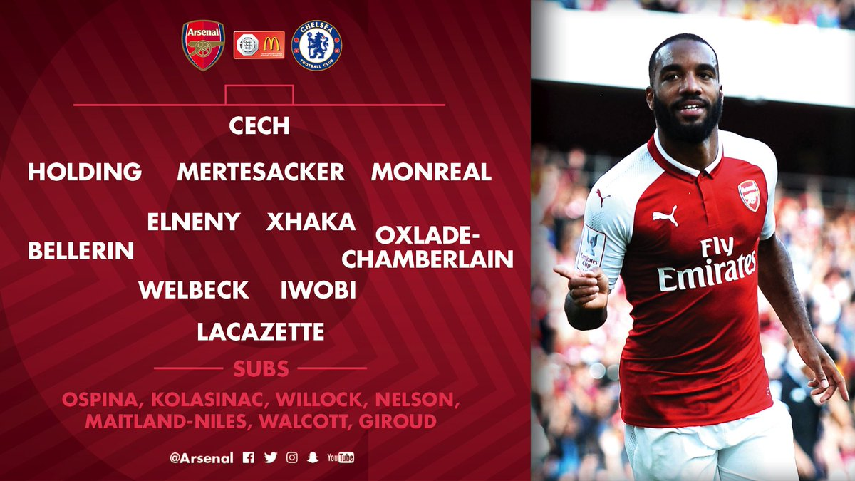The team news is in…  Here's how we line up for #AFCvCFC