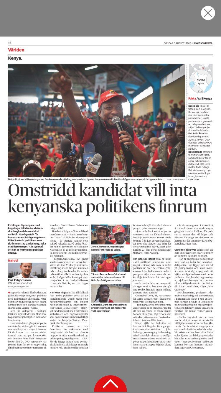 Omstridd kandidat vill inta kenyanska politikens finrum