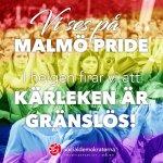Samling kl 12 idag på Stortorget för Prideparad! #malmöpride