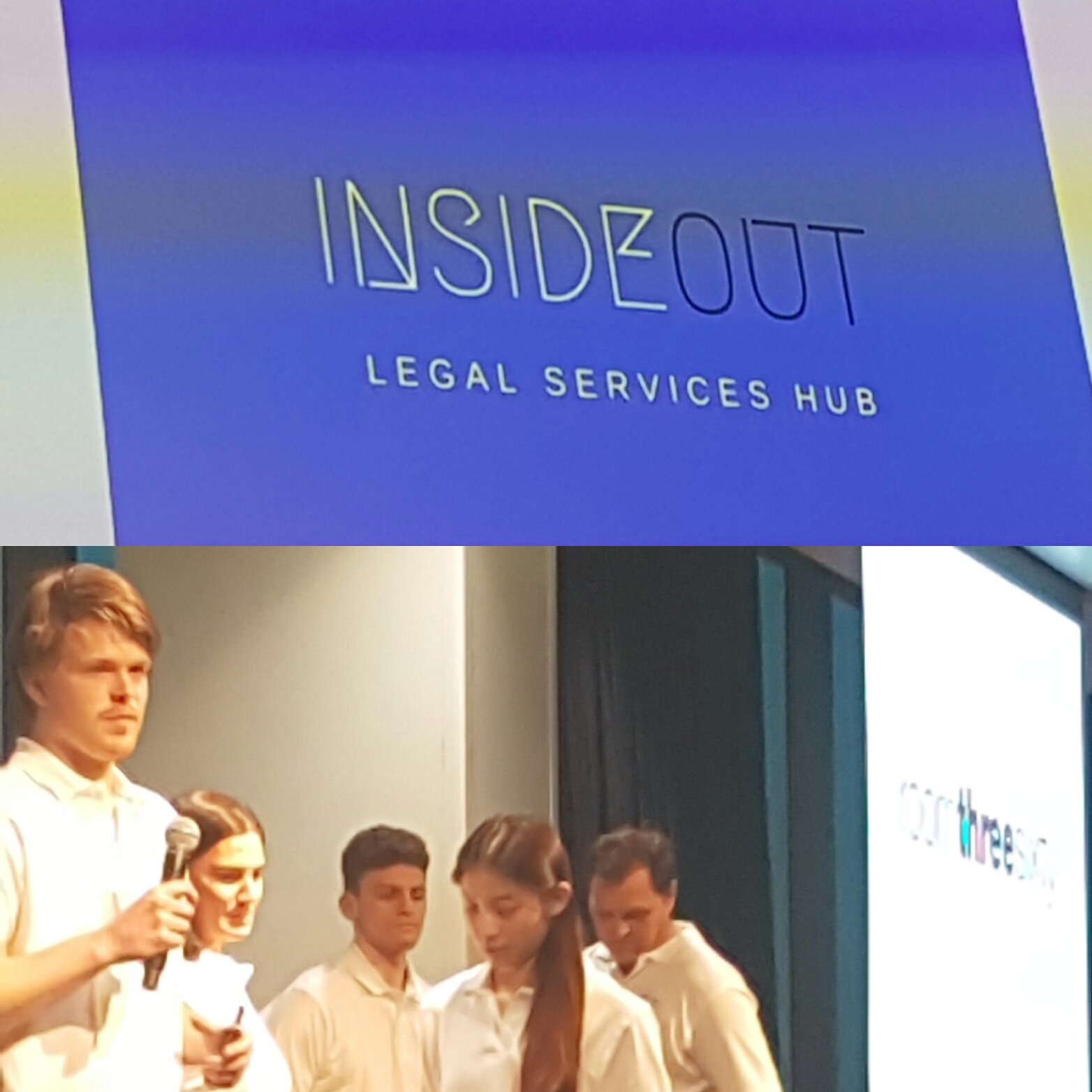 Team @HSFlegal #pitching #InsideOut legal services @Legal_Forecast #disruptinglaw #hackathon  #disruptive #pitchtime #innovation #jdhorizons https://t.co/F1nK8hseSf