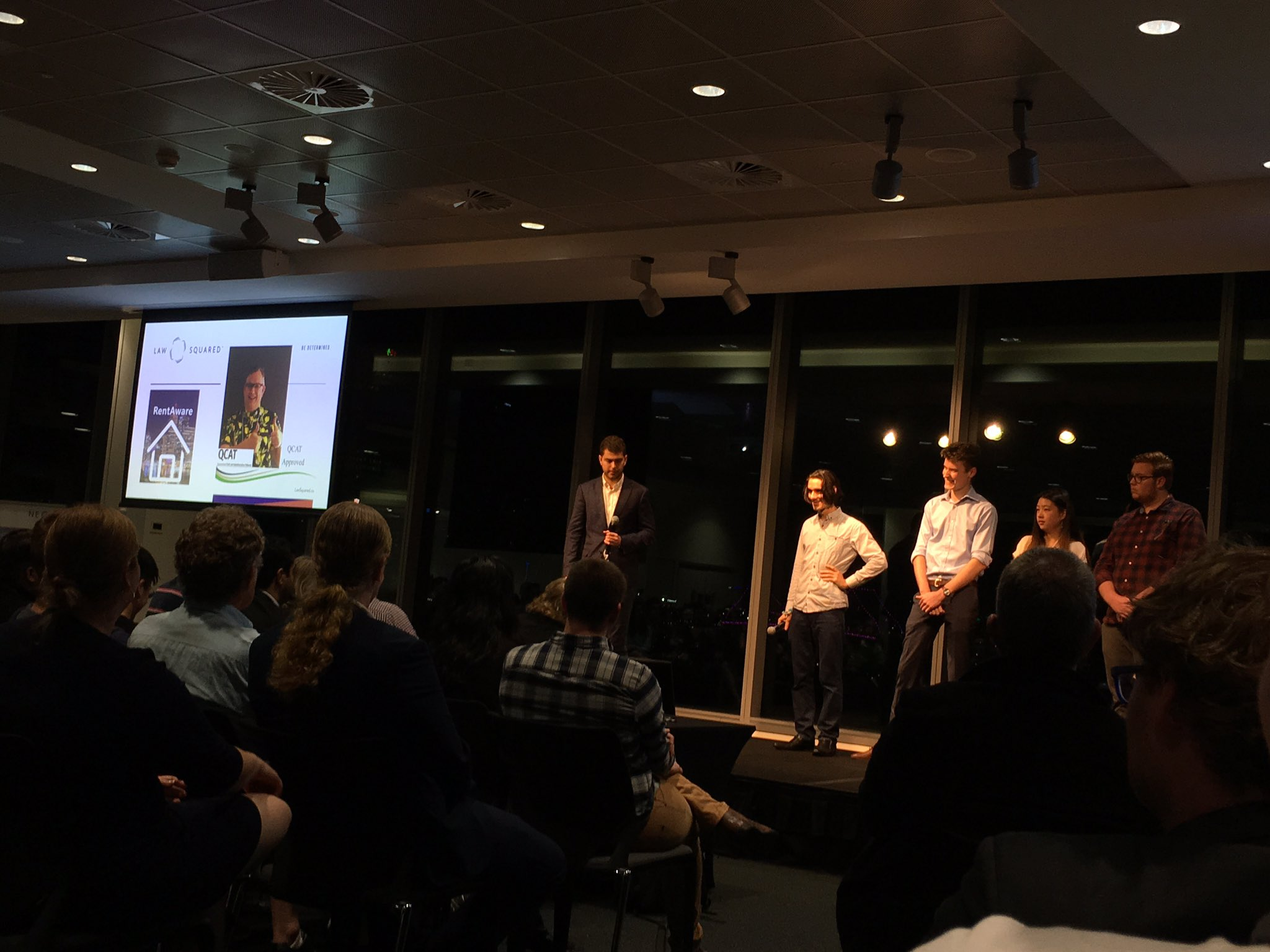 Congrats to team mentored by @lawsquaredco -pitch on Rent Aware was 👌  #DisruptingLaw & rental relationship #legaltech #auslaw #startupaus https://t.co/uC6DCciLX0