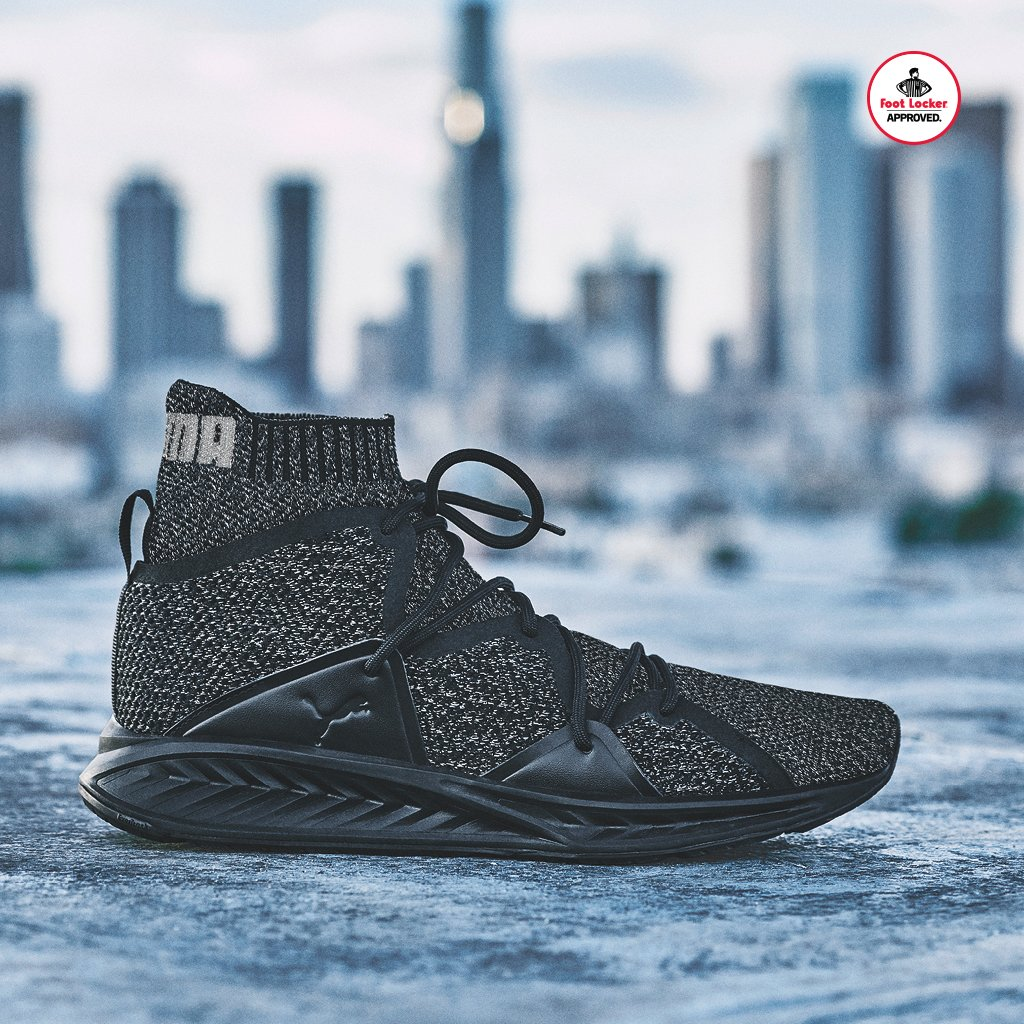 303035202173  footlocker 1 year. make waves the black puma ignite evoknit wave is in  stores and online here
