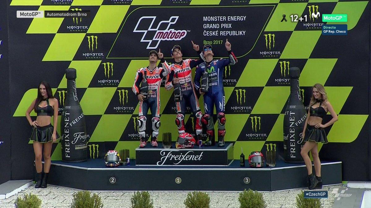 MotoGP: Marquez domina a Brno con coraggio. Valentino Rossi finisce 4° a -22 punti in classifica