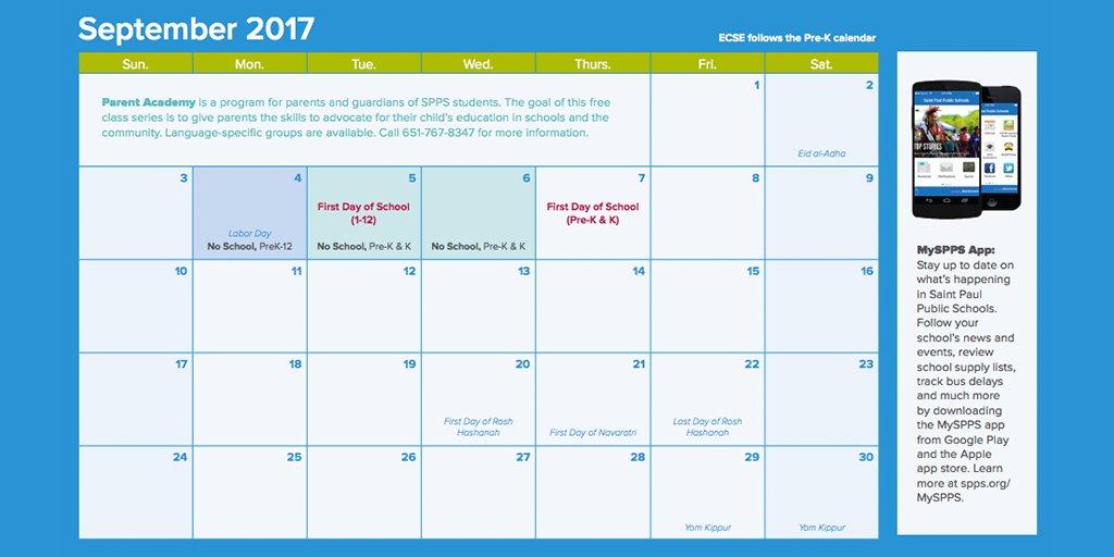 Spps Calendar.Saint Paul Public Schools On Twitter Track Important Dates